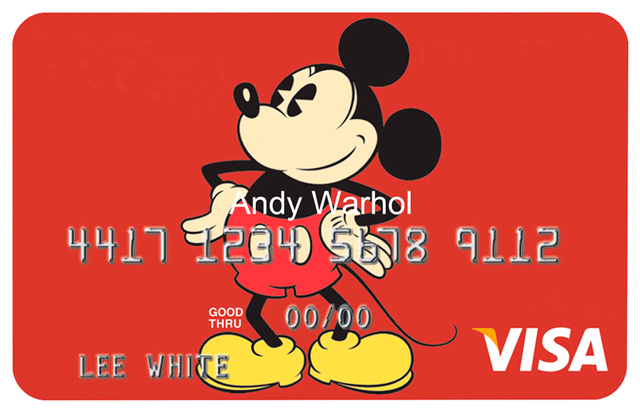 thesnapassembly_ART_Artist_credit_card_Warhol_micky_mouse