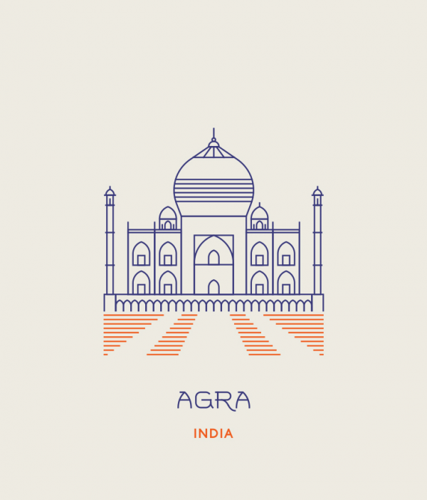 line icons agra india everythingwithatwist