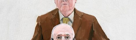 Alice Tye paints portraits of Gilbert and George