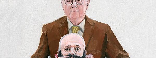 Alice Tye paints portraits of Gilbert and George