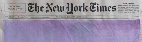 New York Times lockdown Sunrise Covers by Sho Shibuya
