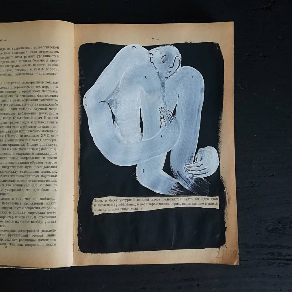 painted vintage books helen hil