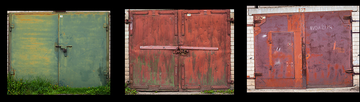Beauty Remains, Garage Doors in Vilnius, Lithuania by Agne Gintalaite