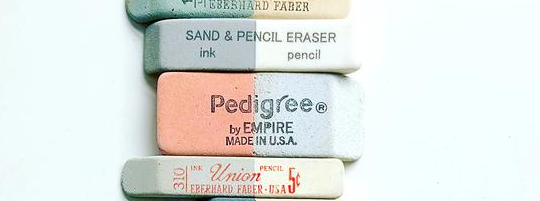 Colorful Vintage Erasers, by Lisa Congdon